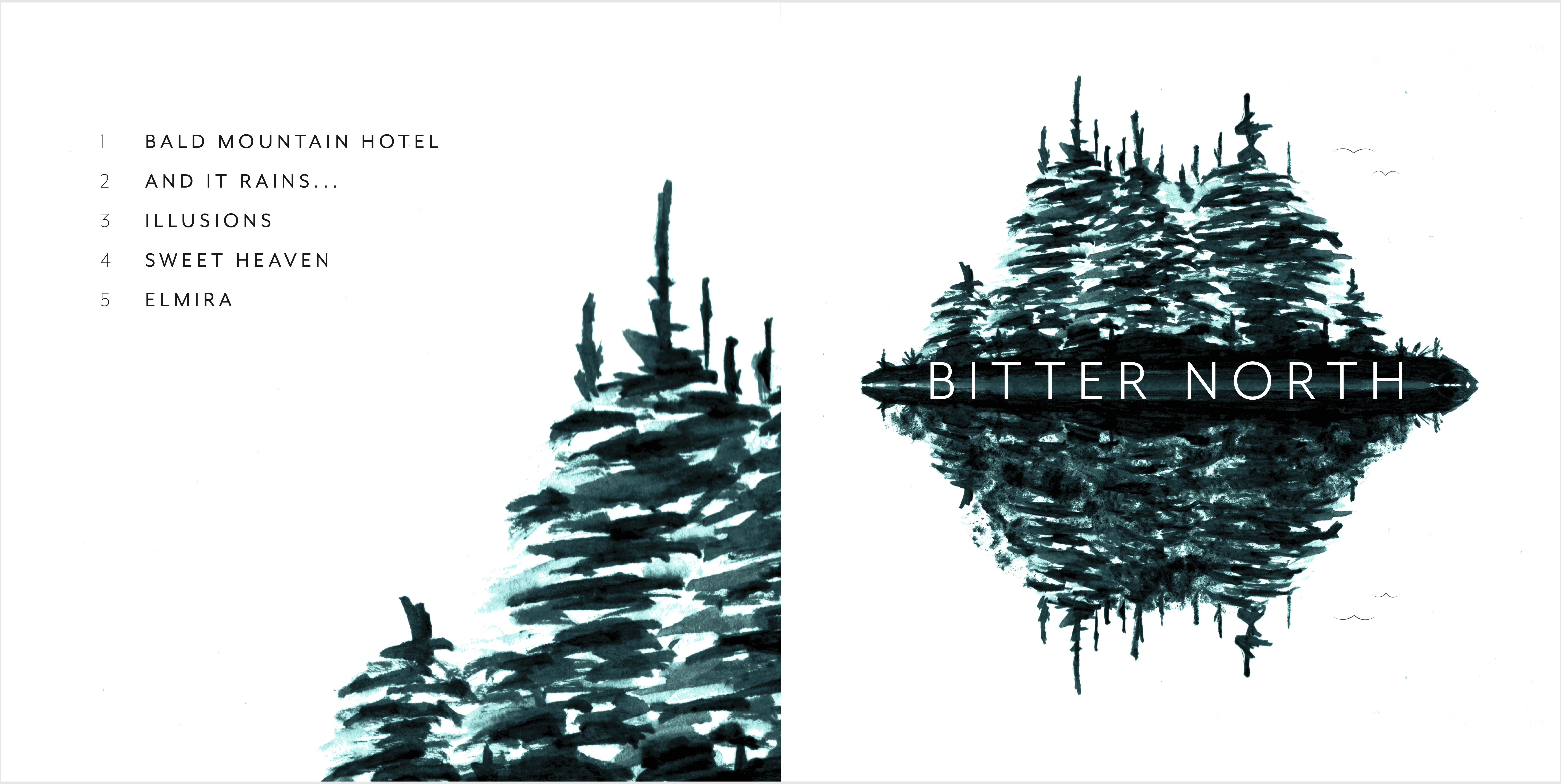 Front and reverse covers of the Bitter North self-titled EP album cover